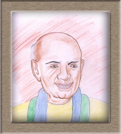 Art On Sketchbook - By Megha Chhatbar Color Pencil Portrait Sardar Vallabhbhai Patel