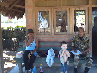 Karlito with Mary Luz and our Army friend.