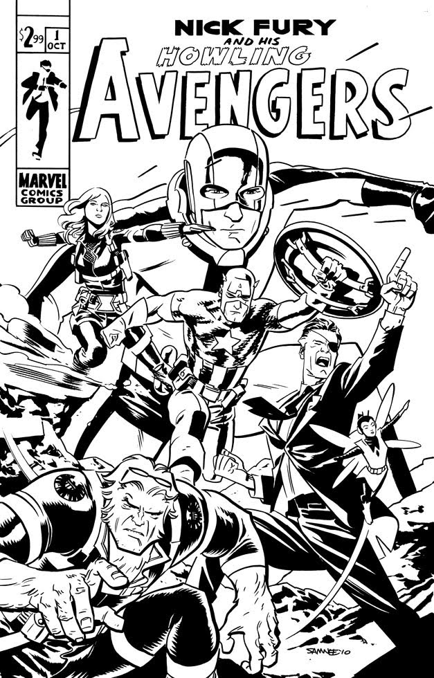 Chris samnee s howling avengers updated multiversity for Marvel comics coloring pages