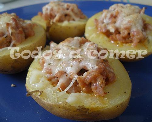 Patatas rellenas de Arandanos