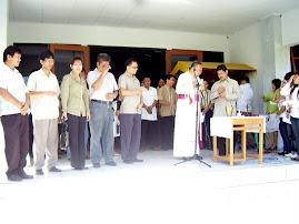 Ibadah dipimpin Uskup J. Suwatan, MSC