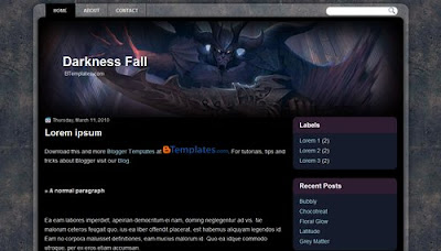 free+Darkness Fall+blogger+template