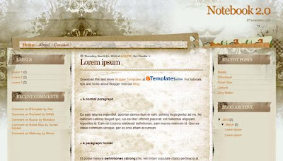 free+Notebook 2.0+blogger+template