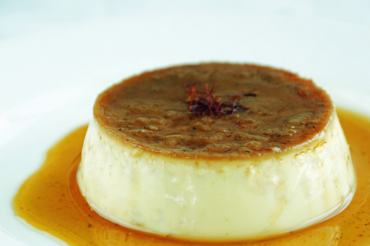 Creme Caramel With Saffron and Cardamom