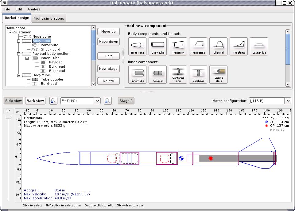 Free Rocket Design Software