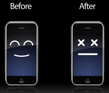 Before and after the latest iPhone update