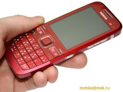 Nokia E55 in Red