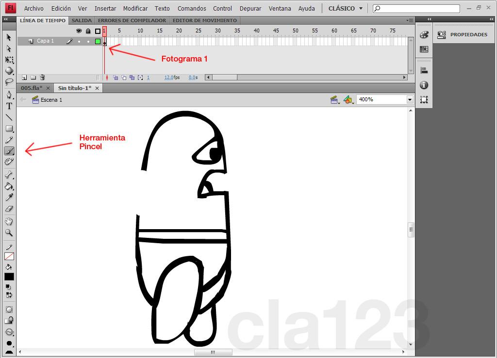 Crear una animación - Flash