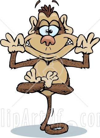 [40826-Clipart-Illustration-Of-A-Silly-Monkey-Character-Balanced-On-His-Tail-And-Grinning.jpg]