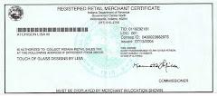 Retail Merchant Certificate