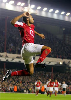 Thierry Henry Celebrates