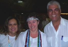 Mãe Roseli e o companheiro Cardoso