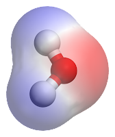 illustration of water molecule