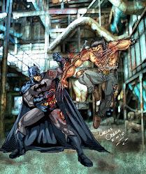 BATMAN WOLVERINE POR CARLOS ORBEA