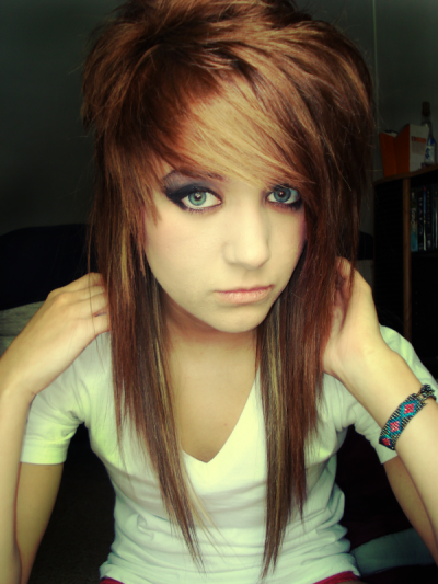 emo hairstyles for girls with medium hair and bangs. Cute Emo Haircuts For Girls