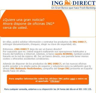 Ganar dinero por internet oficinas de ing direct por toda for Oficinas en madrid de ing direct