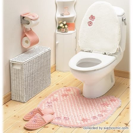 Home decoration toilet decoration very sweet - Decoration toilette ...
