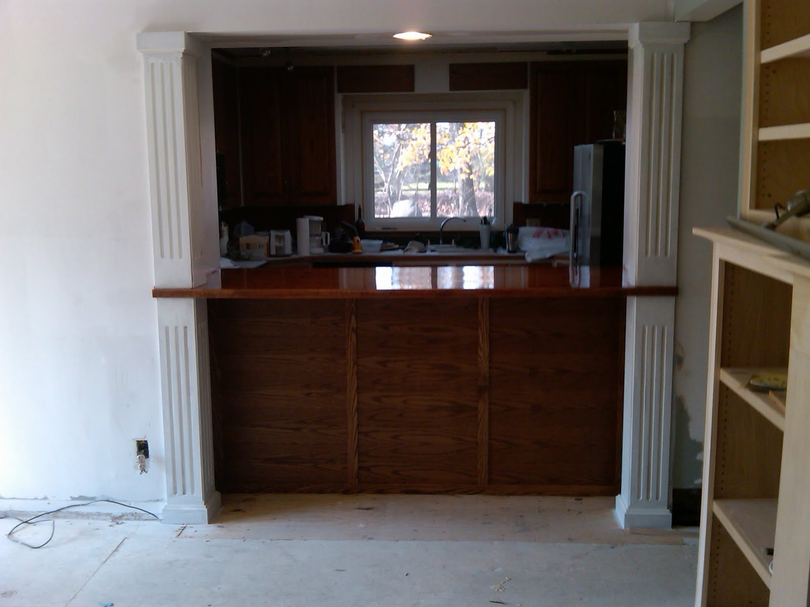 Kitchen with Pass through Bar