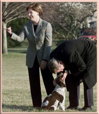 "Pet Pedia: President Bush with ""Scottish Terriers"""