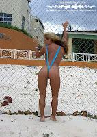 Heathyr R in a Malibu Strings bikini in Jamaica picture