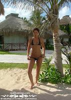 Kelsey in a Malibu Strings bikini in Cancun pics gallery