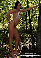 Annie in a Malibu Strings bikini in Montreal, Quebec pictures gallery