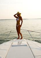 Vicki in a Pink Polka Dot Bikini (Malibu Strings) On The Lake pictures gallery