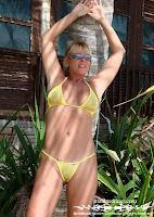 Patricia C in a Sparkle Sheer Bikini (Malibu Strings) in St. Martin images gallery