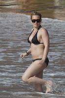 Hilary Duff in a hot black bikini Sexy Juicy Couture Swimwear images gallery