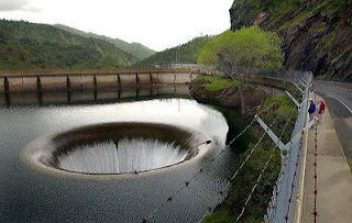 Hole(Spillway) in Monticello dam in california image photo pic gallery