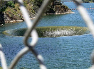 Hole(Spillway) in Monticello Dam in california picture gallery