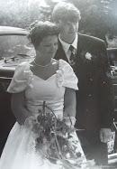 Brudparet, min man och jag