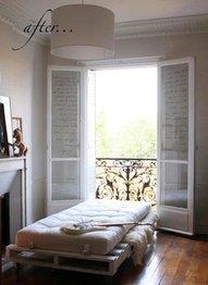 para este se ha utilizado algo mas que paletspero es curioso y bonito esta cama tambien est hecha con