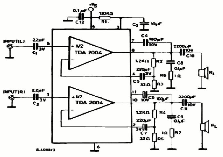 siera teknik elektronics 20 w tda 2004 pa