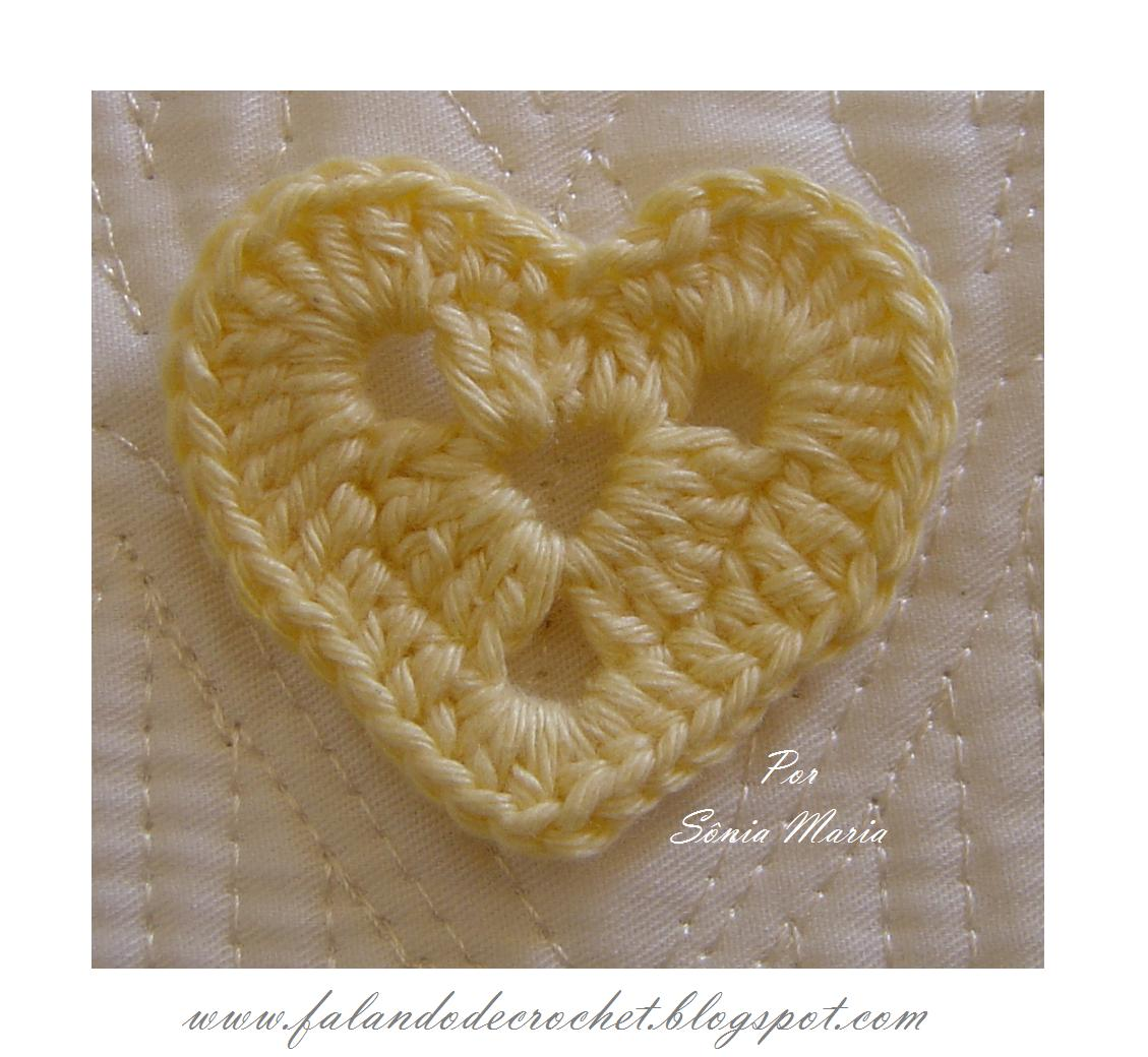 Aplicacao De Croche Coracao Croche Croche Crochet