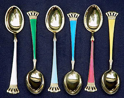 gilt demitasse spoon set