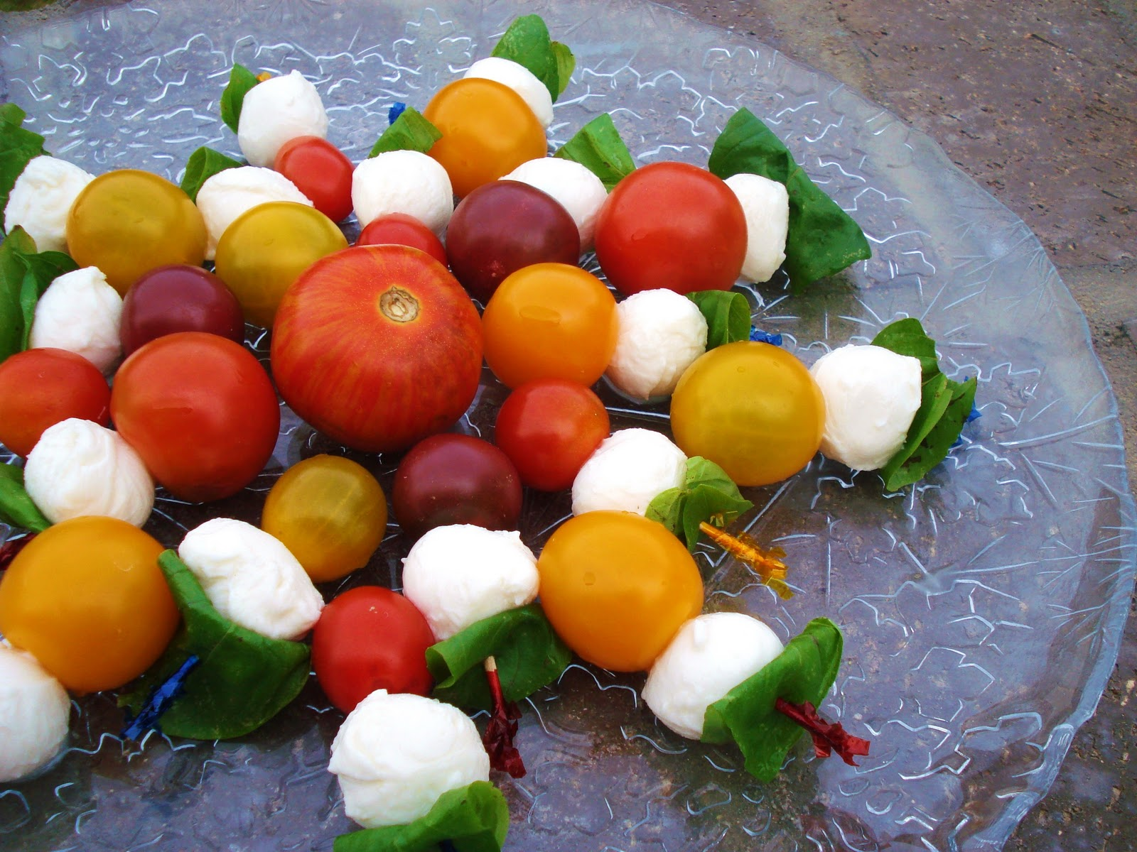 simple holiday appetizer caprese skewers - Simple Christmas Appetizers