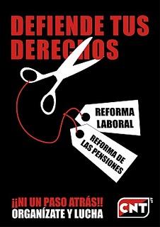 Concentracińo contra la reforma laboral en Toledo.