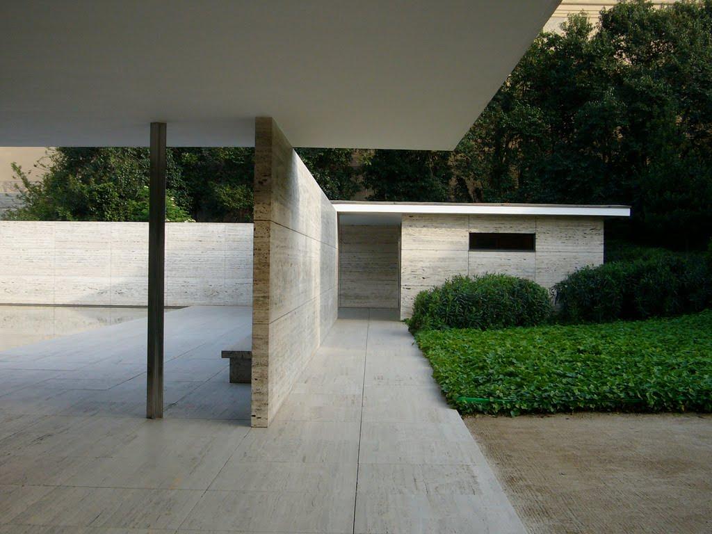 Dise o y percepci n grupo 02 pabell n alem n de barcelona - Despacho arquitectura barcelona ...