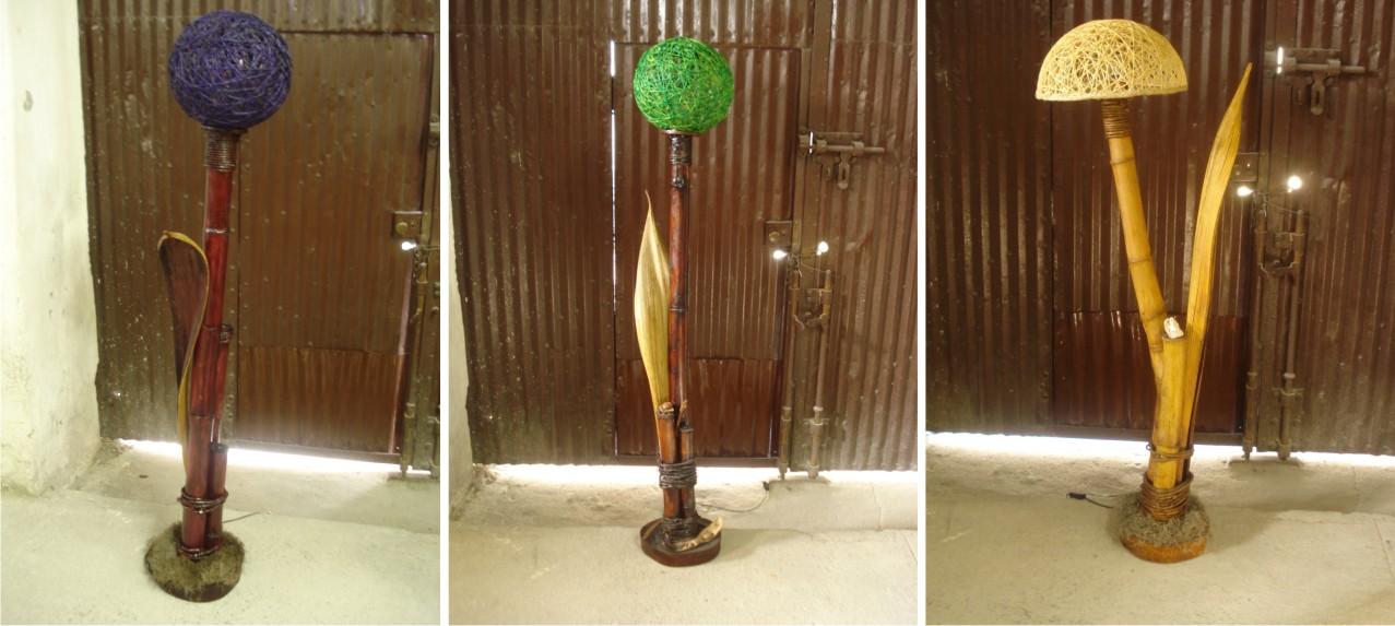 Artesanato Em Florianopolis Sc ~ Arte Extrativista Luminária de Bambu
