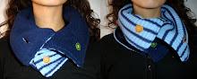 Cuello azul a rayas y azul oscuro doblefaz - Junio 10