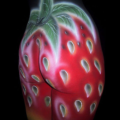 Strawberry Body Painting