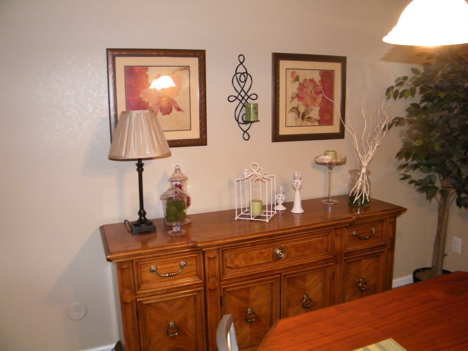 Dining Room Changes China Hutch Redo And A Frog Potty