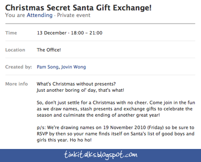 Tinki Talks: I Could Be Your Secret Santa