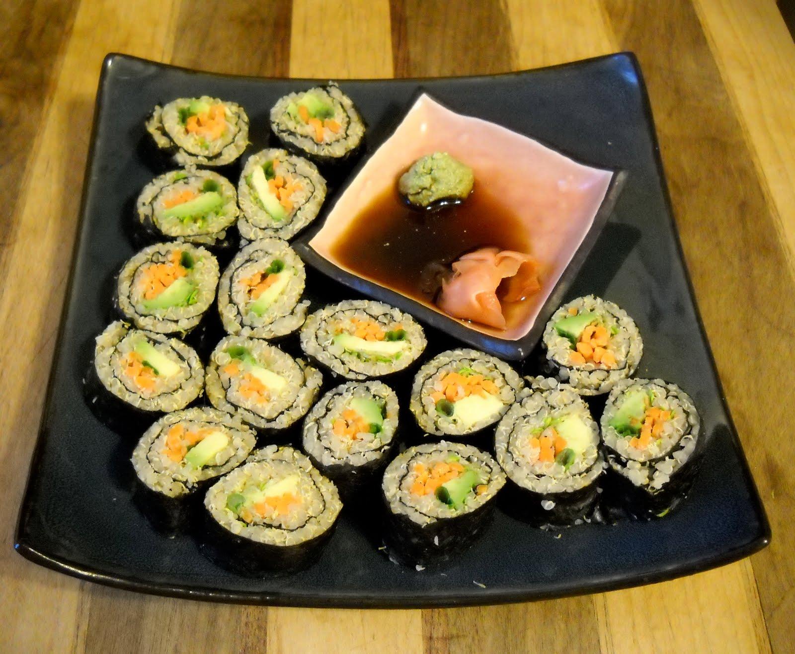 The Life Of A Vegan: Quinoa sushi