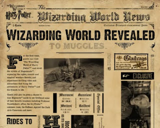 O site do parque 'O Mundo Mágico de Harry Potter' é reformulado