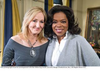 Confira mais uma foto de J.K. Rowling ao lado de Oprah Winfrey | Ordem da Fênix Brasileira