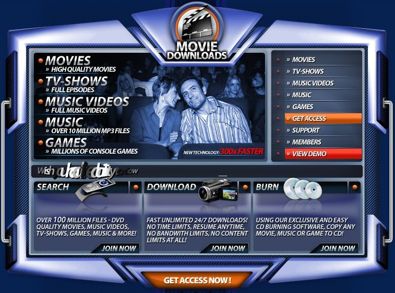 Free p2p movie site