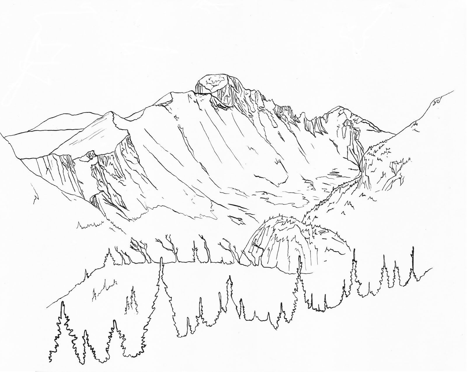 Line Art Mountains : Rom e mpire rocky mountain national park yet more
