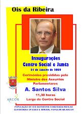 MINISTRO SANTOS SILVA INAUGURA CENTRO SOCIAL E SEDE DA JUNTA